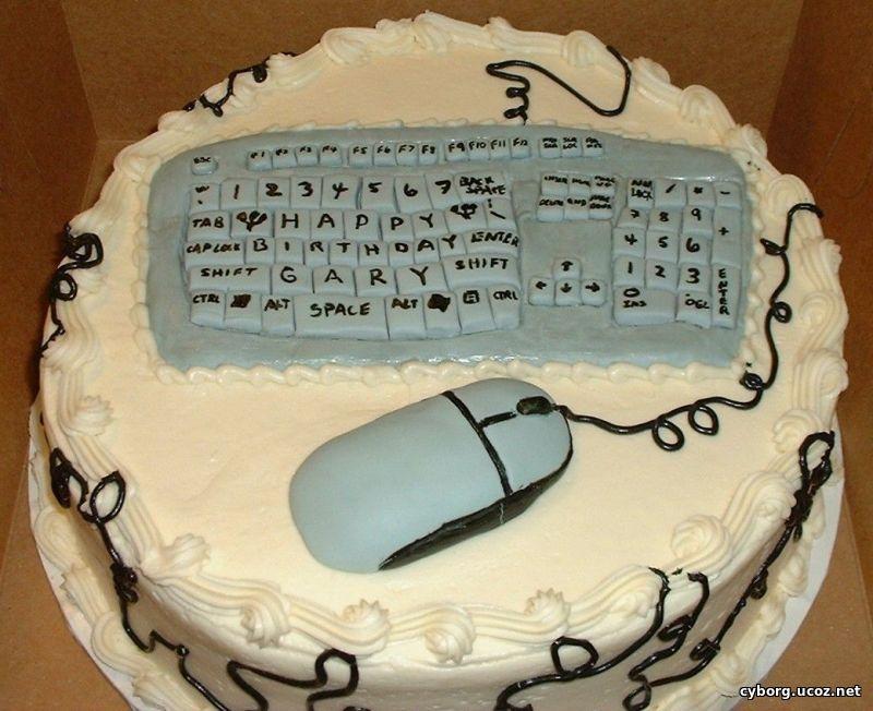 Открытка с днем рождения мужчине с компьютером, новорожденным сыном